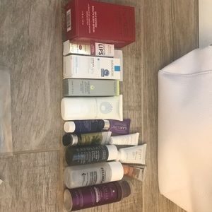 NIB Mega Skin Care Haul! INC White Travel Bag.